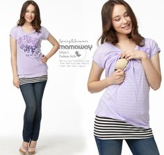 Disney Marie Butterfly Cotton Maternity and Breastfeeding Top Nomor produk:13808 #Maternitywear #Breastfeedingwear #Nursingwear
