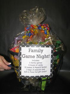 Family game night basket