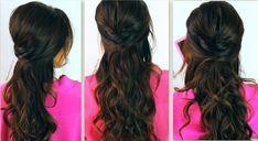 hair half up and half down | Prom Hairstyles For Medium Hair Half Up Half Down Curly Vbpodre - HD ...