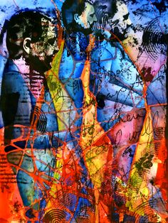 "Me, Myself and I Artist: Edward Baranski Water Media/Mixed Media on Paper, 30"" x 22"""