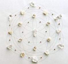 Prosperity Crystal Grid. ATTRACT MONEY, PROSPERITY & ABUNDANCE Sacred Geometry. Seed of Life. Citrine & Tulsi