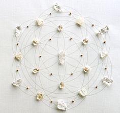 Prosperity Crystal Grid. Sacred Geometry. Seed of Life