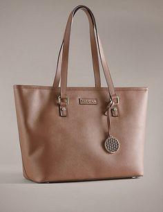 Faux Leather Shopper Bag   M&S £59