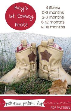 fairytale frocks and lollipops :: cowboy boots, peek-a-boo pattern shop, e-pattern, downloadable pattern, pdf pattern, e-book, tutorial