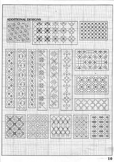 Motifs Blackwork, Blackwork Cross Stitch, Cross Stitch Borders, Cross Stitching, Cross Stitch Patterns, Kasuti Embroidery, Border Embroidery, Cross Stitch Embroidery, Embroidery Patterns
