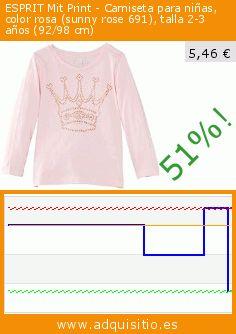ESPRIT Mit Print - Camiseta para niñas, color rosa (sunny rose 691), talla 2-3 años (92/98 cm) (Ropa). Baja 51%! Precio actual 5,46 €, el precio anterior fue de 11,16 €. https://www.adquisitio.es/esprit/mit-print-camiseta-ni%C3%B1as-9