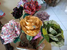 flores de tecido!!!!