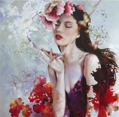"Manyung Gallery Group:  artist:Wendy Ng  art:'Poppy Season' Oil on Canvas 92 x 92 cm /36""x 36"" ♥•♥•♥"