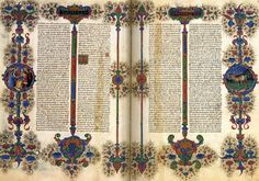Bible of Borso d'Este 1455-61 Manuscript (Ms. VG 12 lat. 422-23), 375 x 265 mm (each) Biblioteca Estense, Modena