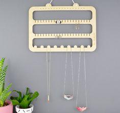 Earring & Necklace Hanger - Handmade by Not a Jewellery Box - Earring Storage - Earring Hooks - Wood - Jewellery Storage - Jewelry Storage