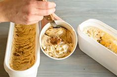 Homemade Speculoous Cookie Butter Core Ice Cream