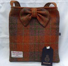 Ona of my handmade Harris Tweed bags. Find me on folksy & etsy my shop is. Teeedbyme