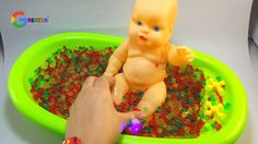 Learn Colors Orbeez Baby bath Playdoh modeling clay with Surprise toys