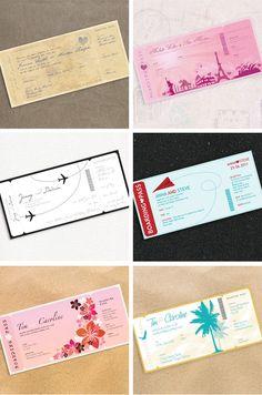 boarding pass wedding invites