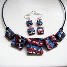 Čtverečkový náhrdelník #polymers Jewellery, Bracelets, Projects, Fimo, Bangles, Jewelery, Blue Prints, Jewelry Shop, Jewlery
