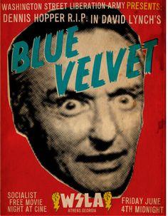 blue velvet movie poster.