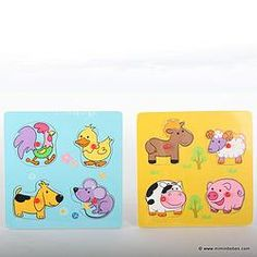 Puzzle animales madera gr.