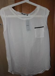 Kup mój przedmiot na #vintedpl http://www.vinted.pl/damska-odziez/bluzki-bez-rekawow/7217437-biala-mgielka-bluzka-mango-rozm-m