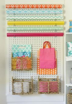 I love this colorful organized craft room makeover at thehappyhousie.com-7