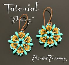 DELICACY Beading pattern Beadwoven earrings tutorial with Seed Bead Patterns, Beaded Bracelet Patterns, Beading Patterns, Super Duo, Seed Bead Earrings, Seed Beads, Beaded Earrings, Bead Jewelry, Jewellery