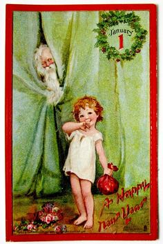 Tuck Baby NEW YEAR Father Time BRUNDAGE Postcard EMB | eBay