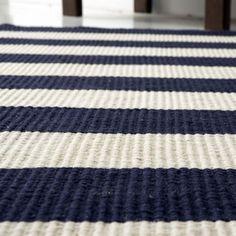 Navy White Striped Rug Malibuhamptonblue New Home Designs And