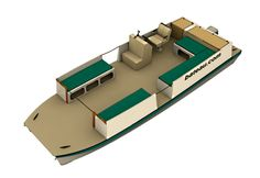 Pontoon Cat 24 – Study Plans Specifications BOM and Labor Building Method Kits Skill Level Plans Packing List Options Reviews . . . CNC Kit Notes Specifications: LOA: 24′ 7,30 m Max. Be…