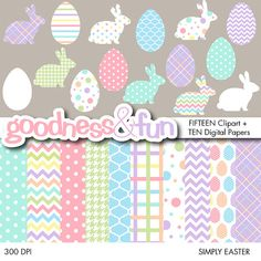 Buy 2 Get 1 FREE  Simply Easter Clipart & by goodnessandfun
