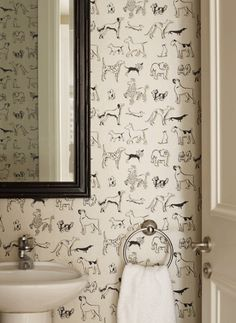 24 Pup-Inspired Home Decor Ideas That Are Doggone Classy Dog decor house for dog. 24 Pup-Inspired Home Decor Ideas That Are Doggone Classy Dog decor house for dogs Salon Design, Home Design, Design Ideas, Dog Grooming Salons, Dog Grooming Shop, Dog Grooming Business, Mid Century Bathroom, Dog Salon, Dog Wallpaper