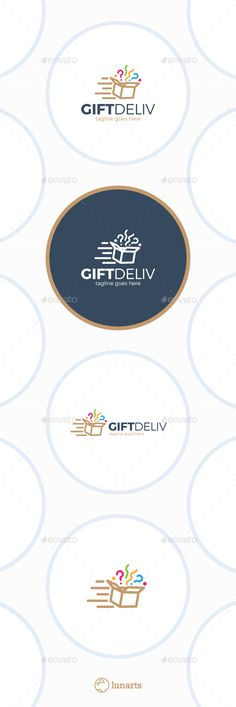 Gift Delivery Logo - Surprise Box - Symbols Logo Templates