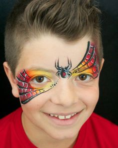 spiderman webs eye design face paint