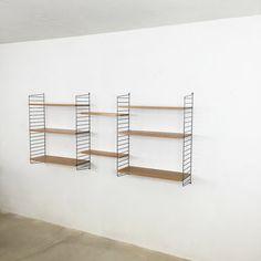 xxl String Regal vintage 60s   Nisse Strinning   sweden   danish modern   elm wood   wall unit shelve system wandregal Regalsystem