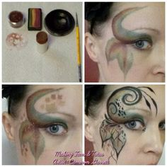 Quick fall fairy eye face painting tutorial by Making Faces & Tutus www.makingfaces.vpweb.com