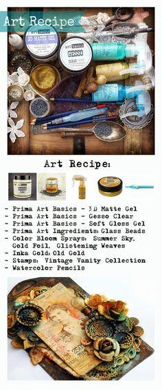 Finnabair: Art Recipe Wednesday: Rusted Beauty