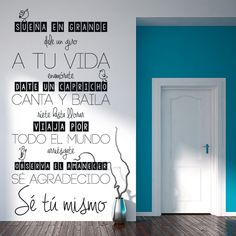 Positive Phrases, Positive Quotes, Motivational Quotes, Diy Room Decor, Wall Decor, Home Decor, Sign I, Paint Designs, Ideas Para