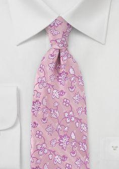 Krawatte Ranken-Pattern rosa