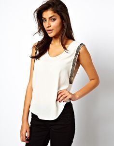 Image 1 of ASOS Tank With Embellished Drop Armhole