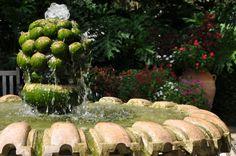 The wonderful fountain in the McKean Arboretum, Winter Park, Florida.