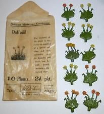 BRITAINS VINTAGE LEAD PREWAR MINIATURE GARDEN RARE PACK OF 10 DAFFODILS Daffodils, Soldiers, Miniatures, Models, Toys, Garden, Plants, Vintage, Templates