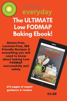Everything You Need To Know For Creating Successful and Delicious Gluten-Free, Lactose-Free and Low FODMAP Baked Goods This entire book is about yummy baked goods and desserts, from simple muffins to rich cheesecakes and other recipes that make our lives just a little bit sweeter, like cookies, bars, cupcakes and scones. Written by baking and low FODMAP expert Dédé Wilson (Author of 17 cookbooks and baking books - and The Low FODMAP Diet Step by Step) this is THE PRIMER! Fodmap Dessert Recipe, Fodmap Recipes, Fodmap Diet, Low Fodmap, Lactose Free Cream, Fodmap Baking, E Recipe, Baking Basics