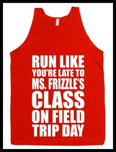 Magic School Bus work out top. Pumpin' It Bookworm Style: Bookish Fitness Apparel - BOOK RIOT