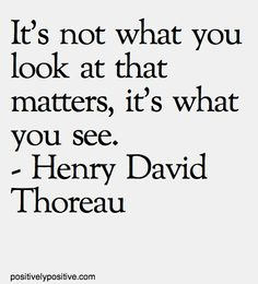 it's not what you look at -thoreau