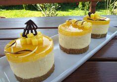 Mangó mousse minitorták sütés nélkül | Margaréta 🌼 receptje - Cookpad receptek Mango Mousse, Cheesecake, Paleo, Pudding, Sweets, Cookies, Recipes, Food, Pie