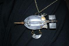Airship by Petra Slováková https://www.facebook.com/gabrielletaroka?fref=ts  #victorian #steampunk #historical #19th #airship  #jewels #jewelry #clock #apoxie sculpt #handmade