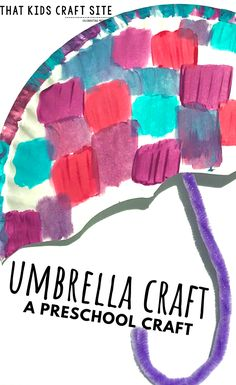 Turn those rainy day frowns upside down with this cute umbrella craft for preschoolers! It's a great Spring preschool craft for kids! Spring Crafts For Kids, Craft Projects For Kids, Craft Activities For Kids, Spring Crafts For Preschoolers, Diy Projects, Alphabet Activities, Preschool Activities, Kids Umbrellas, Weather Crafts