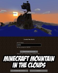 A skyscraping mountain/extreme hill seed for Minecraft (PC/Mac). The extreme hill is a savanna m biome that stretches up to the sky.