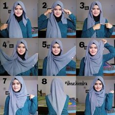 What is hijab? Hijab is the head scarf which is usually worn by the Muslim women. Square Hijab Tutorial, Simple Hijab Tutorial, Hijab Style Tutorial, Turban Hijab, Stylish Hijab, Hijab Chic, Islamic Fashion, Muslim Fashion, Girl Hijab