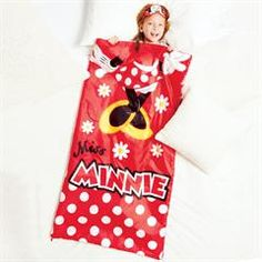 """Minnie Mouse Character Sleeping Bag with Eye Mask And Drawstring Bag. Polyester, 30""""x54"""", imported, machine wash, ages 5 and up.  $29.99"""