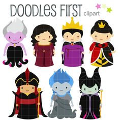 Fairytale Villains Digital Clip Art for by DoodlesFirst on Etsy