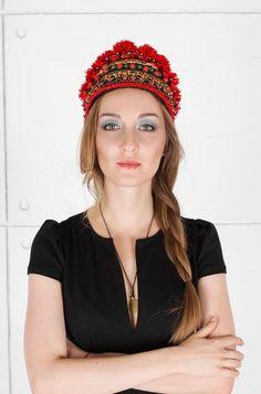 Ukrainian headwear, Flower Headdress, Flower Crown, Flower Headpiece, Hair…